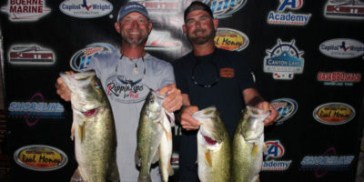 CHARLES WHITED & TREY GROCE WEIGH IN A WHOPPING 21.38 lbs TO TAKE THE WIN ON CANYON